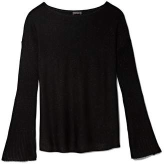 Vince Camuto Rib-knit Flare-sleeve Sweater