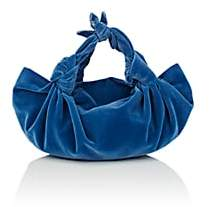 The Row Women's The Ascot Small Velvet Bag - Blue