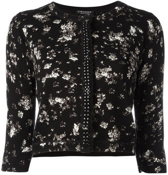 Twin-Set floral print cardigan $150.40 thestylecure.com
