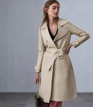 Reiss Our last order date for Christmas has now passed ROMA LEATHER MAC Neutral