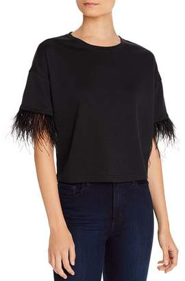 Lucy Paris Feather-Trim Tee