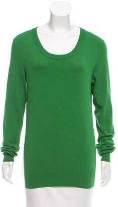 Dolce & Gabbana Long Sleeve Scoop Neck Sweater