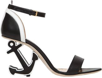 90mm Anchor Leather Sandals $1,170 thestylecure.com