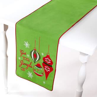 "Avanti Get Your Jingle On"" Table Runner - 72"""