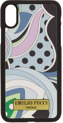Emilio Pucci Blue Nisida iPhone X Case