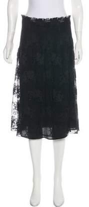 Prada Silk Lace Skirt