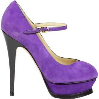 Saint Laurent Palais Purple Suede Heels