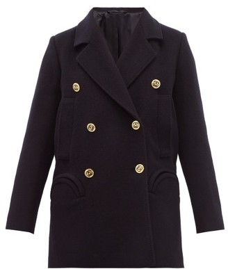 BLAZÉ MILANO Pegaso Sealady Double Breasted Wool Blend Blazer - Womens - Navy