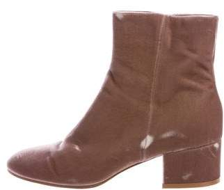 Gianvito Rossi Rolling Velvet Ankle Boots