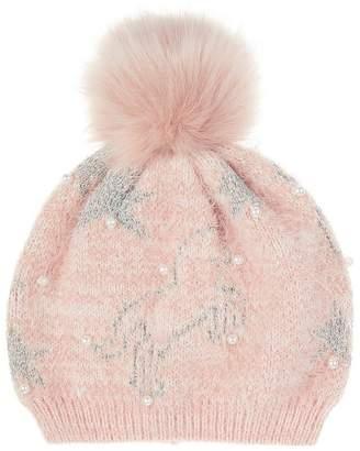 Monsoon Girls Orla Unicorn Fluffy Hat