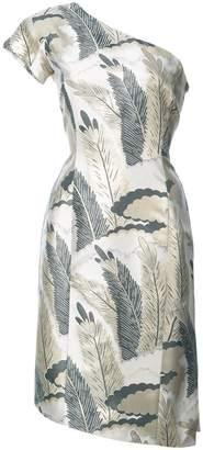 Josie Natori one-shoulder cocktail dress