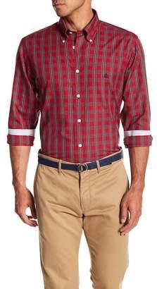 Brooks Brothers Basket Weave Holiday Tartan Print Shirt