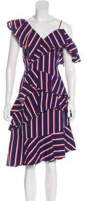 Alice + Olivia Ruffle-Accented Midi Dress