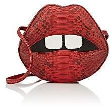 "Gelareh Mizrahi Women's ""Lara Stoned Lips"" Python Clutch - Red"