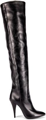 Saint Laurent Kiki Knee High Boots in Black | FWRD
