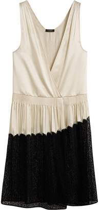 Burberry Silk Satin and Lace Sleeveless Dress