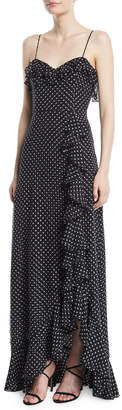 Milly Mila Polka Dot Chiffon Silk Dress