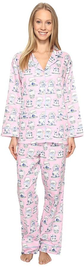 BedHeadBedHead Long Sleeve Front Pocket Pajama Set