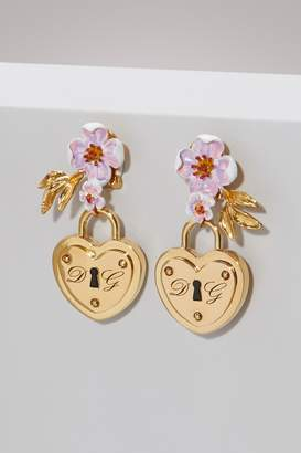 Dolce & Gabbana Heart lock earrings
