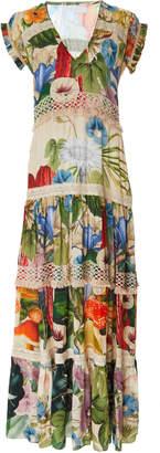 Carolina K. Catalina V-Neck Embroidered Maxi Dress