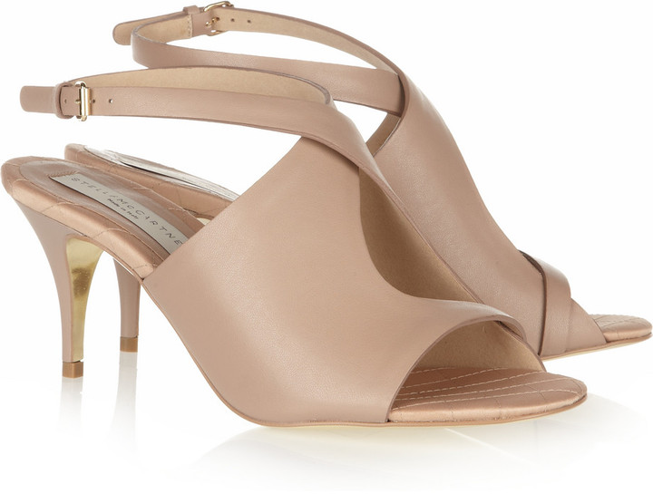 Stella McCartney Faux leather peep-toe sandals