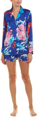 Natori 2Pc Fiji Satin Pajama Short Set