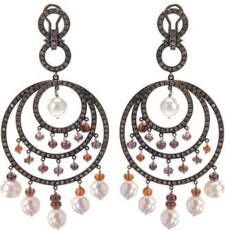 Paolo Piovan 18kt black gold chandelier earrings