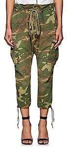 Greg Lauren Women's Camouflage Cotton Ripstop Lounge Pants - Army