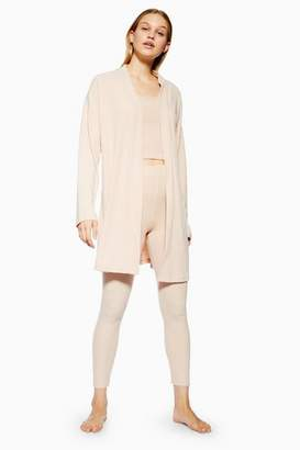 Topshop Womens Brushed Ribbed Lounge Robe