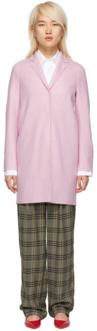 Pink Wool Cocoon Coat