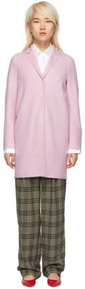 Harris Wharf London Pink Wool Cocoon Coat