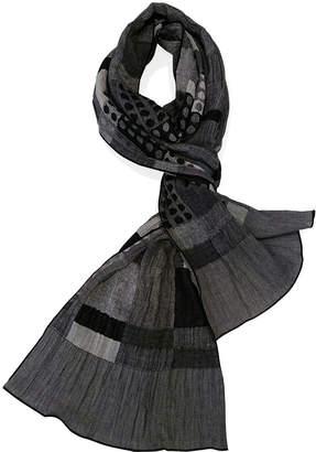 布(NUNO) すごろく スカーフ ホワイト/ブラック