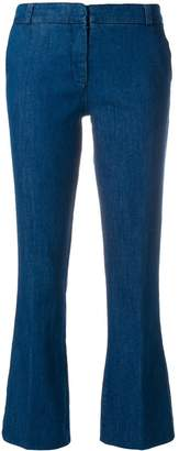 Kiltie flared cropped trousers