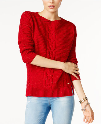 Tommy Hilfiger Mara Cable-Knit Sweater, Only at Macy's $79.50 thestylecure.com