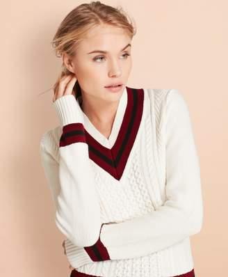 Brooks Brothers Merino Wool-Cotton Tennis Sweater