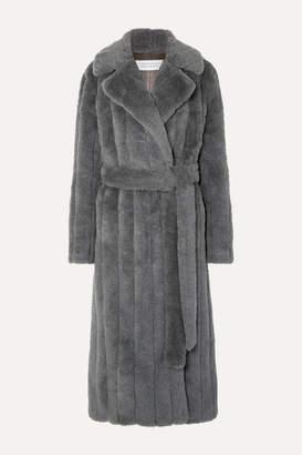 Gabriela Hearst Pavlovna Belted Wool, Silk And Cashmere-blend Coat - Dark gray