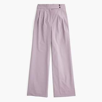 J.Crew High-waisted wide-leg pant with asymmetrical button