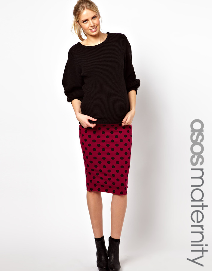 Asos Pencil Skirt in Spot