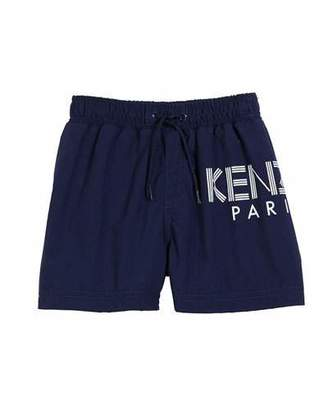 Kenzo Sweat Shorts w/ Logo Graphic, Size 4-6