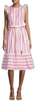 Kate Spade New York Stripe Cotton Poplin Midi Dress