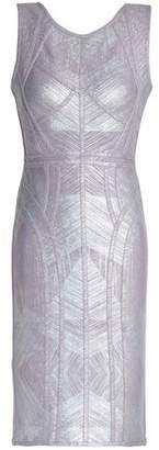 Herve Leger Metallic Bandage Mini Dress
