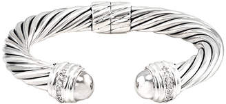 David Yurman Heritage  Cable 18K & Silver 0.48 Ct. Tw. Diamond Cuff Bracelet