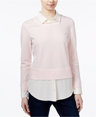 Tommy Hilfiger Layered-Look Sweater, Only at Macy's $89.50 thestylecure.com