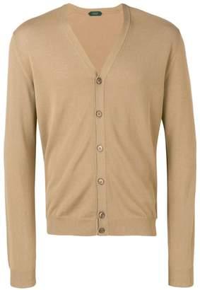 Zanone button fitted cardigan