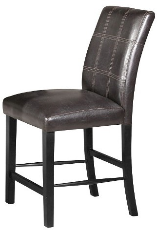 Acme ACME Blythe Counter Height Dining Chair (Set of 2) - Faux Marble and Black