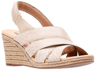 Clarks Lafleykrissy Wedge Sandals