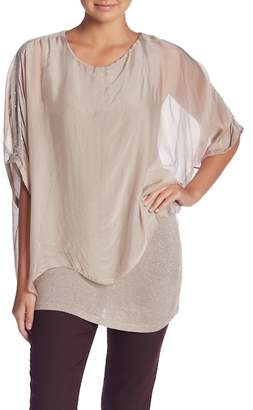 Tempo Paris Long Sleeve Silk Blouse