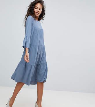 Y.A.S Tall tiered midi dress