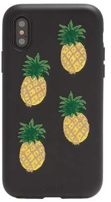 Sonix Embroidered Faux Leather Pineapple iPhone X Case