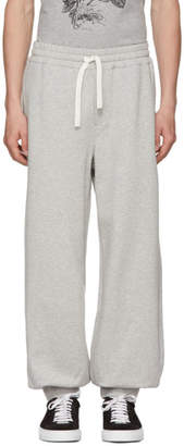 Alexander McQueen Grey Organic Brushed Back Lounge Pants